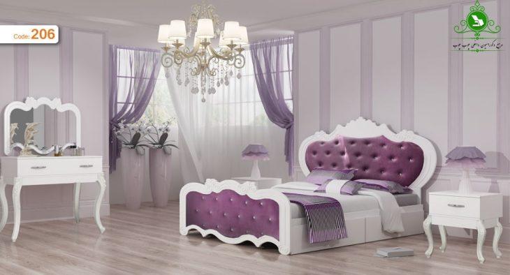 تخت خواب دو نفره مدل یاسمین