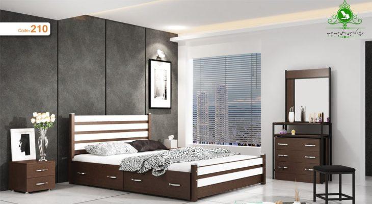 تخت خواب دو نفره مدل آذین