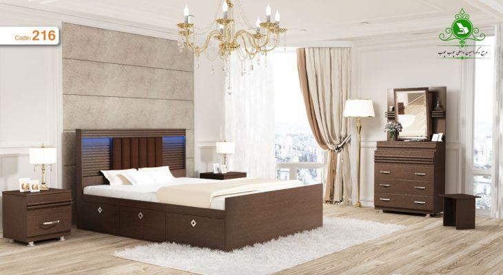 تخت خواب دو نفره مدل رهام