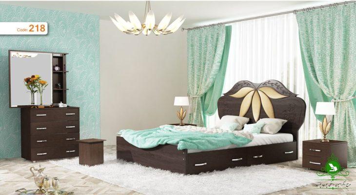 تخت خواب دو نفره مدل گلبرگ
