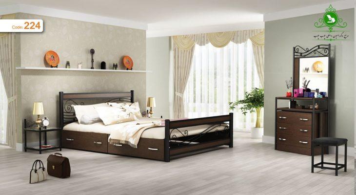 تخت خواب دو نفره مدل ملودی 2